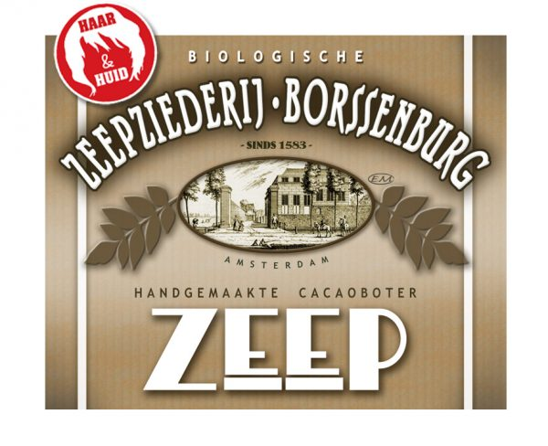 Cacaoboter Haarzeep label